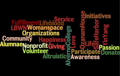 alverno volunteer article wordle