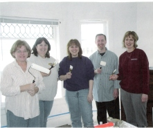 Volunteers at the Ozanam House