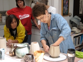 Pottery in motion at Womanspace