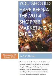 You Should Have Been at the 2014 Shopper Marketing Expo - Cover