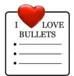 I-love-bullet-points